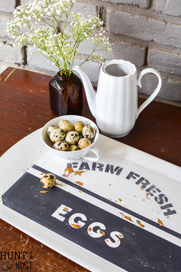 Mix and match stencils to get the look you are going for. This farmhouse stencil tray was a combination of stencils. Psalm 62:6