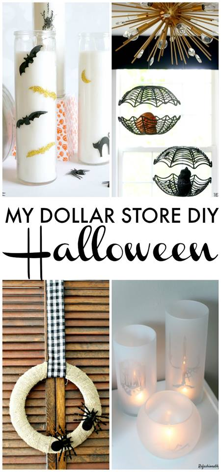 This round up of DIY Halloween decorations from the dollar store is fabulous!