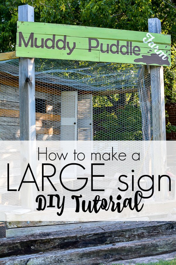 DIY tutorial for how to paint a large sign yourself!