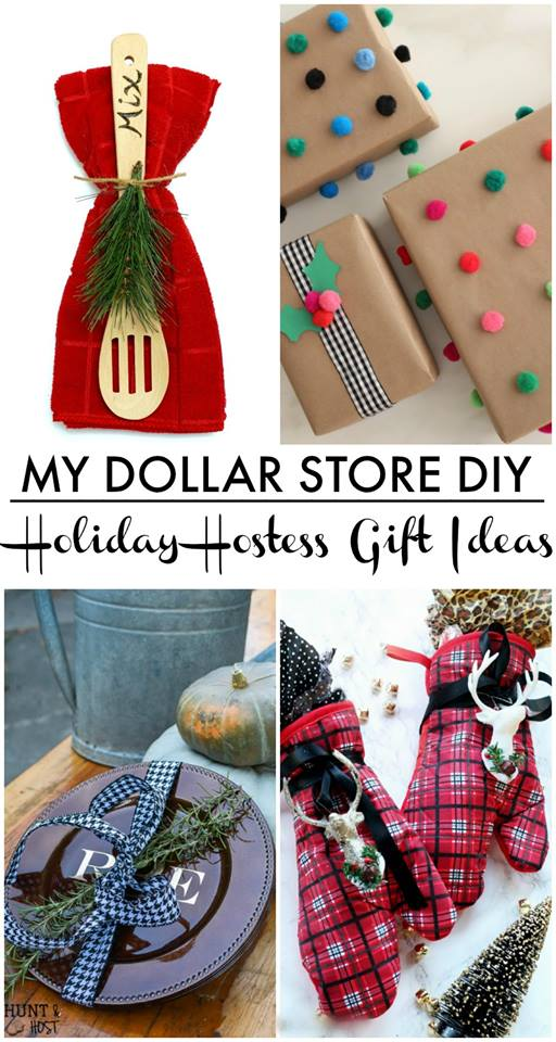 Dollar Store hostess gift ideas, becasue a hostess gift doesn't have to be expensive to be gorgeous! Monogrammed chargers, wrapping paper ideas and kitchen gifts.