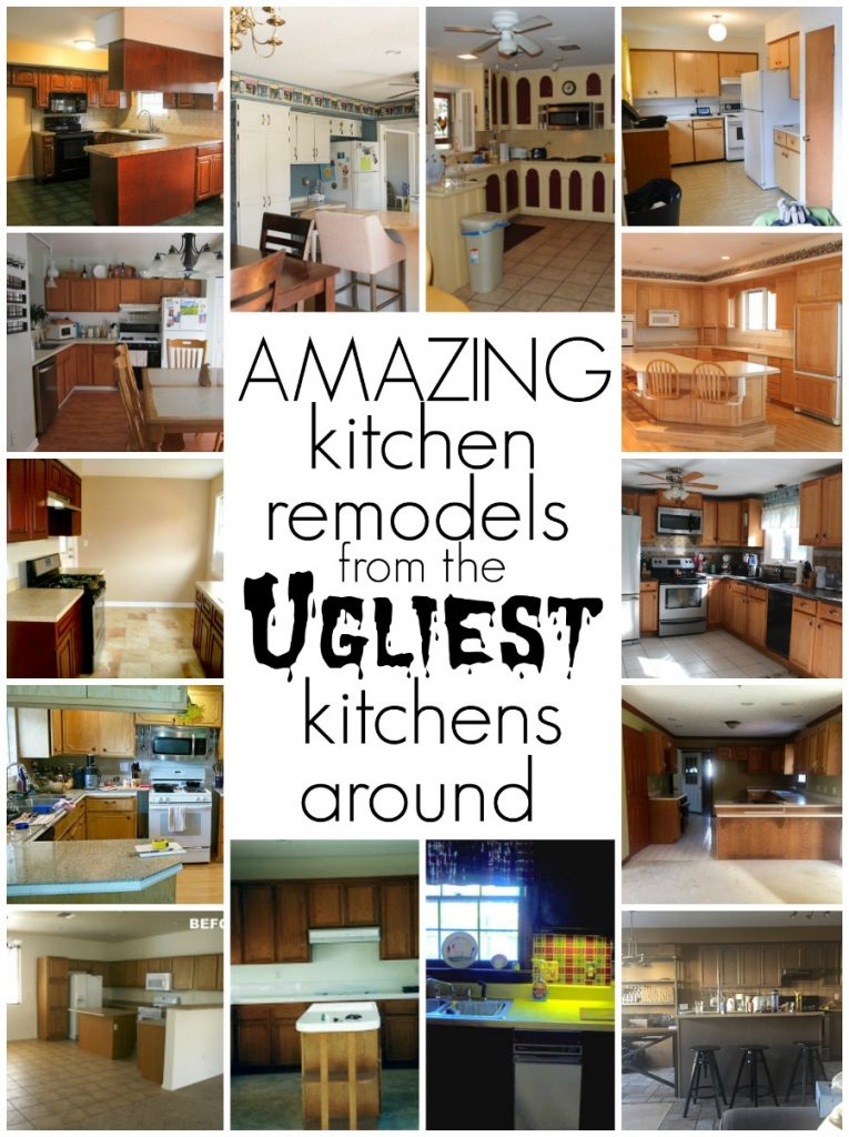 Amazing kitchen remodels from the ugliest kitchens around. DIY kitchen renovation tips, tricks and ideas!