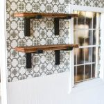 Dollhouse finishes, take a look at miniature trim, casing and mouldings plus DIY dental crown moulding installation. I also added little dollhouse open wood shelving in the kitchen!