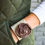 Purge to project ideas, old shoes make a cute cuff bracelet. Easy DIY cuff bracelet tutorial with snaps.