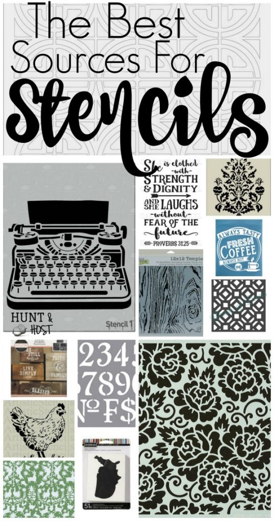 The best sources for stencils. There are so many amazing stencil project ideas from these stencil resources!