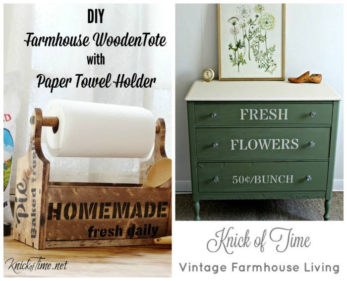 farmhouse wooden tote