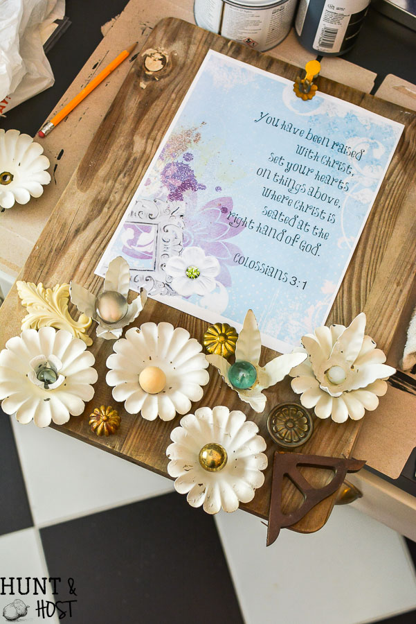 Cute DIY ideas to upcycle old wood cutting boards into decor. This one uses old wedding candelabras for home decor!