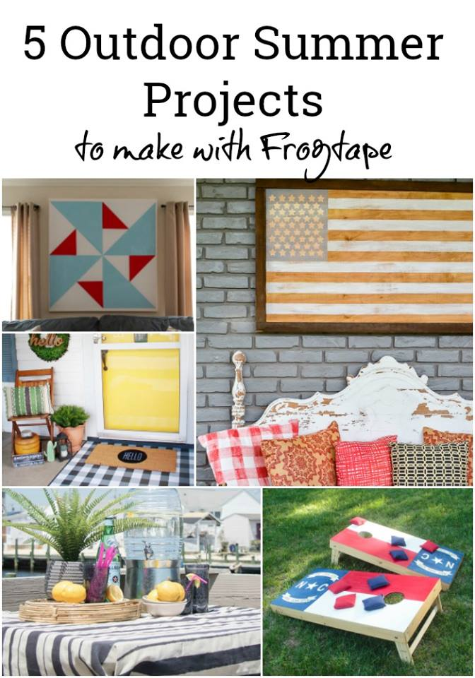 five outdoor summer projects to make using Frogtape. Painting is easy with Frogtape and your summer style will be up to speed in no time!