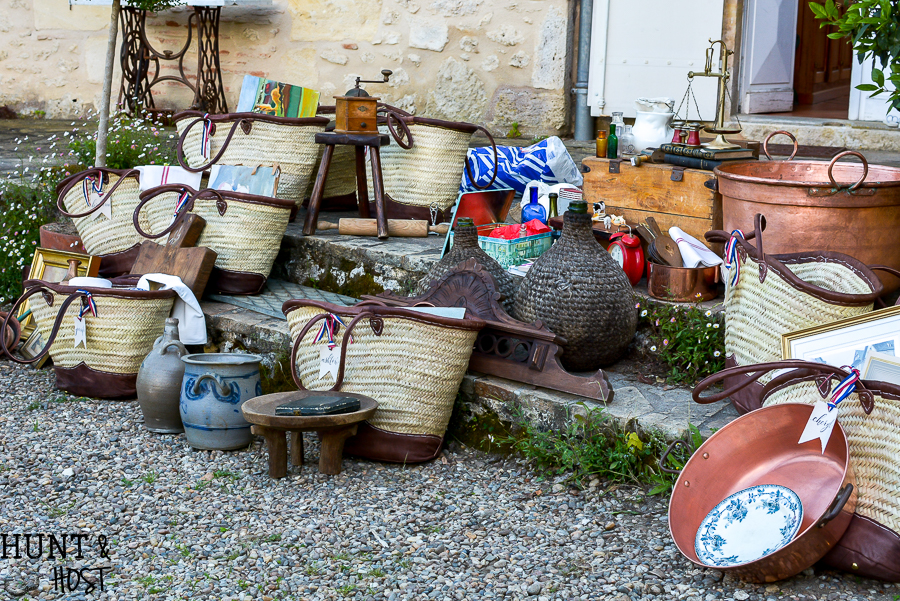 Show and tell from our French brocante shopping day. All the vintage treasures laid out from the perfect day at a French flea market. #frenchfleamarket #vintagefinds #thrifteddecor #brocante #Frenchcountry