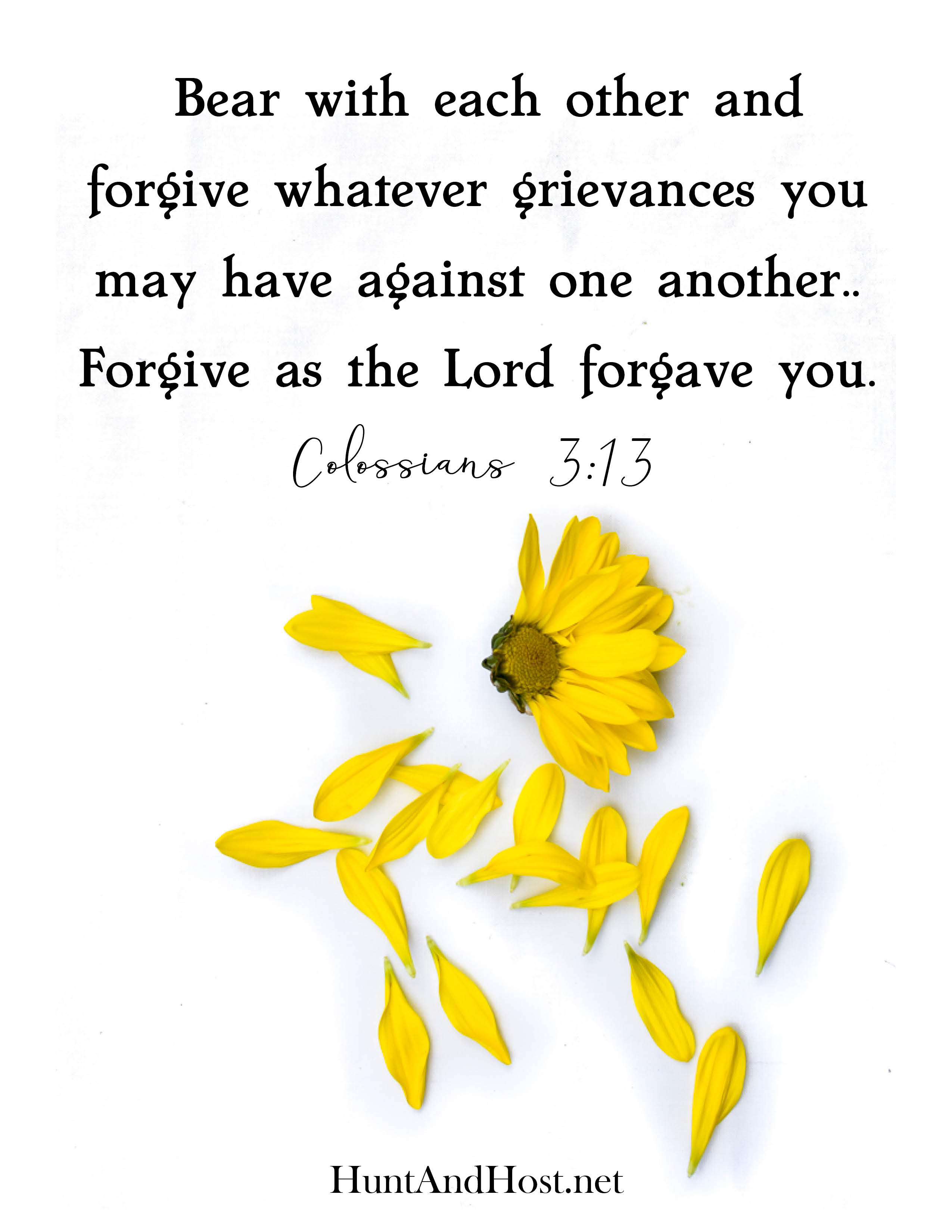 July free printable bible verse Colossians 3:13