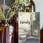 Do you wonder what to do with old photographs? See vintage photos all the time in thrift stores and flea markets? This easy DIY idea will help you add vintage artwork to your home in no time for little cost. These old photo updates are perfect for styling vignettes, gallery walss or updating family photos with personal meaning. #oldphotograph #vintage style #vignette #gallerywall #stencilproject #chalkart #makerboss