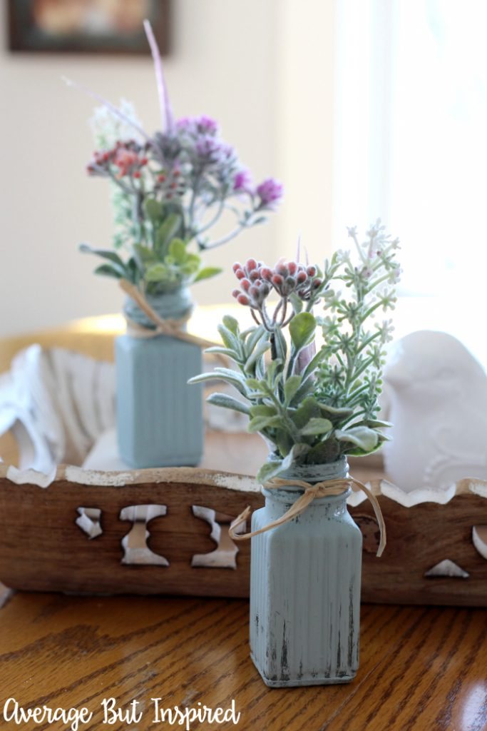 re-purposed bed vase ideas for spring flowers