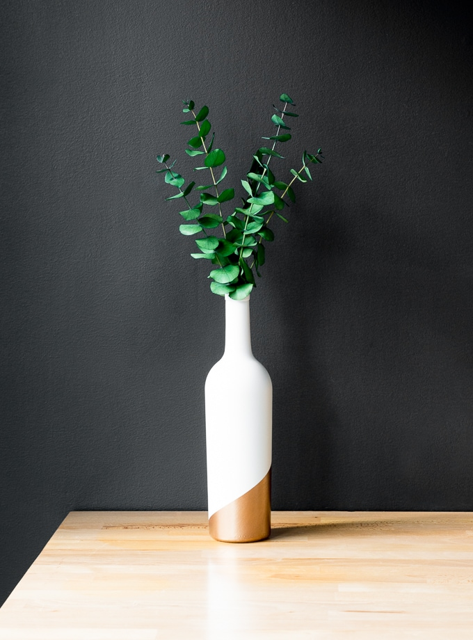gold bud vase diy