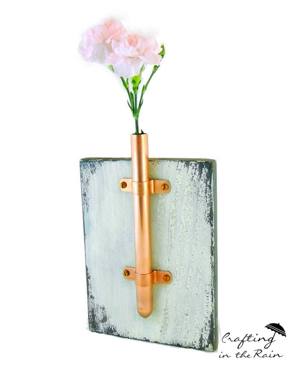 diy copper bud vase idea