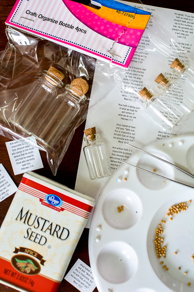 Get your free printable for Mustard Seed faith bottles, they inspire your faith and make great gifts. This Mustard Seed craft is great for anyone to make, even Sunday school or classrooms. #mustardseed #faith #christianinspiration #christianfaith
