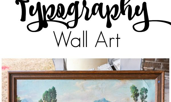 If you come across old artwork in thrift stores and wonder how you can re-purpose it, this is a great idea on how to switch up old art prints into modern DIY typography art. #thriftstorefind #DIYartwork #pctureframerepurpose #vintagestyle